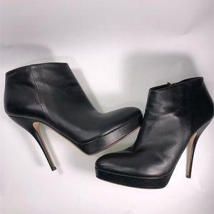 Gucci Black Leather Platform Booties Size 10.5